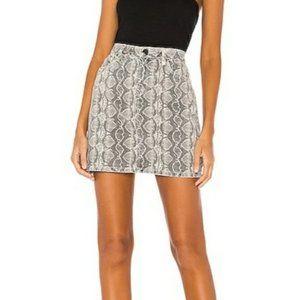 BLANKNYC A-Line High Rise Skirt in Snake Along NEW